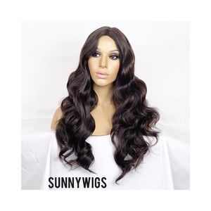 Body Wave Medium Brown Wig. Brazilian Style Wig